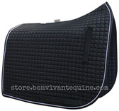 Black Olympic Flag-Tail Dressage Saddle Pads | PRI Pacific Rim International