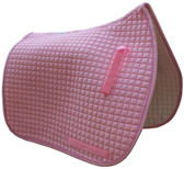 Baby Pink Dressage Saddle Pad with Matching Pink Piping/Trim.