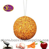 Uncle Jimmys Hangin Ball is an array of flavors:  Molasses, Peppermint, Carrot, Apple and No Added Sugar