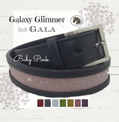 Baby Pink Sparkle Leather Belt