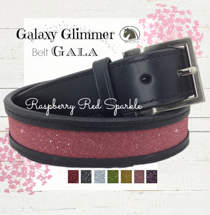 Raspberry Red Belt - Galaxy Glimmer Equestrian Collection Bling Belts