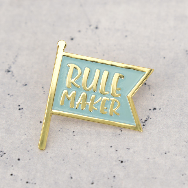 Rule Maker Enamel Pin Badge