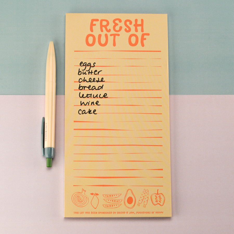Fresh out of Magnetic Shopping List Pad