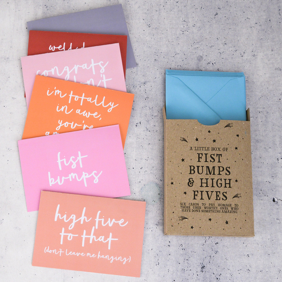 Lead image - fist bumps and high fives card set