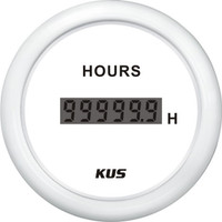 KUS Digital Hourmeter - White
