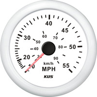 KUS Speedometer White