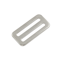 Fixed Bar Webbing Buckle 25mm Stainless Steel