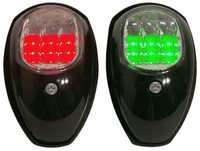 Navigation Lights Port and Starboard Black LED
