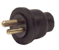 2 Pin Plug Only Rubber Boot