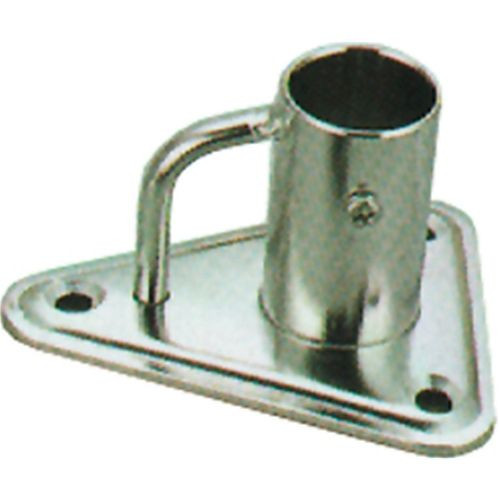Stainless Vertical Stanchion Triangular Base