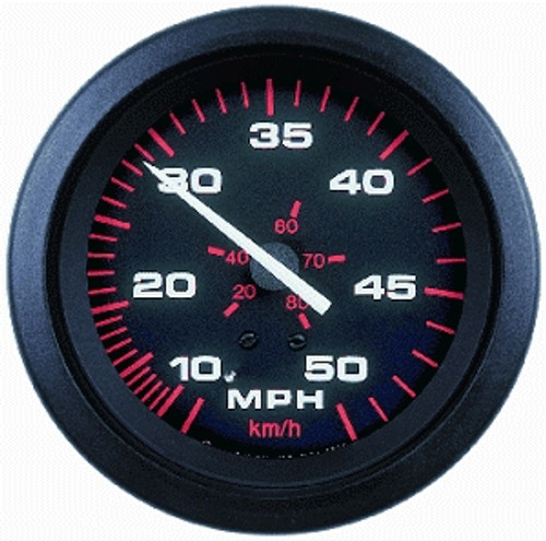 Speedo 10 - 50 MPH (& 80kph) Black