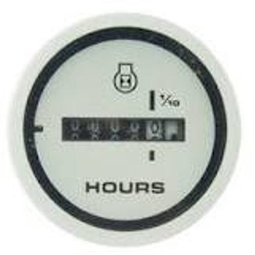 Engine Hourmeter White