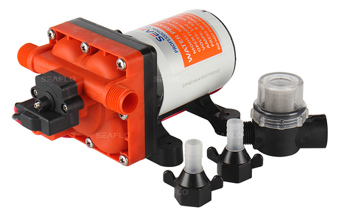 Seaflo 11.6L/M Diaphragm Water Pressure Pump SEAFLO Series 42 - with accessories