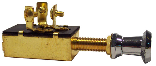 Push Pull Switch Brass On and off and on 25amp