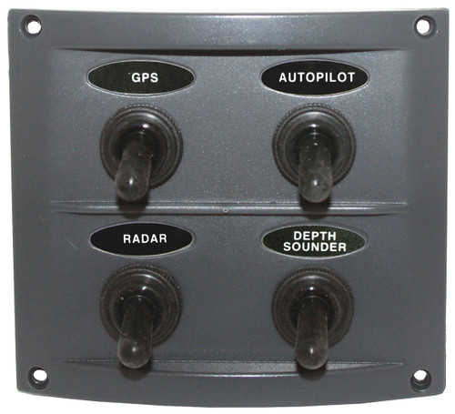 Switch Panel with Rubber switch boots.
