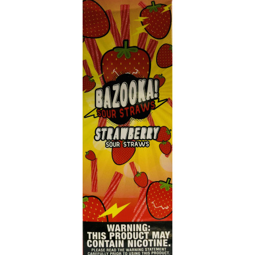 Strawberry Sour Straws (100 ml) By Bazooka Vape