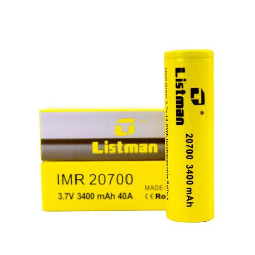 Listman 20700 3400mah 40A battery