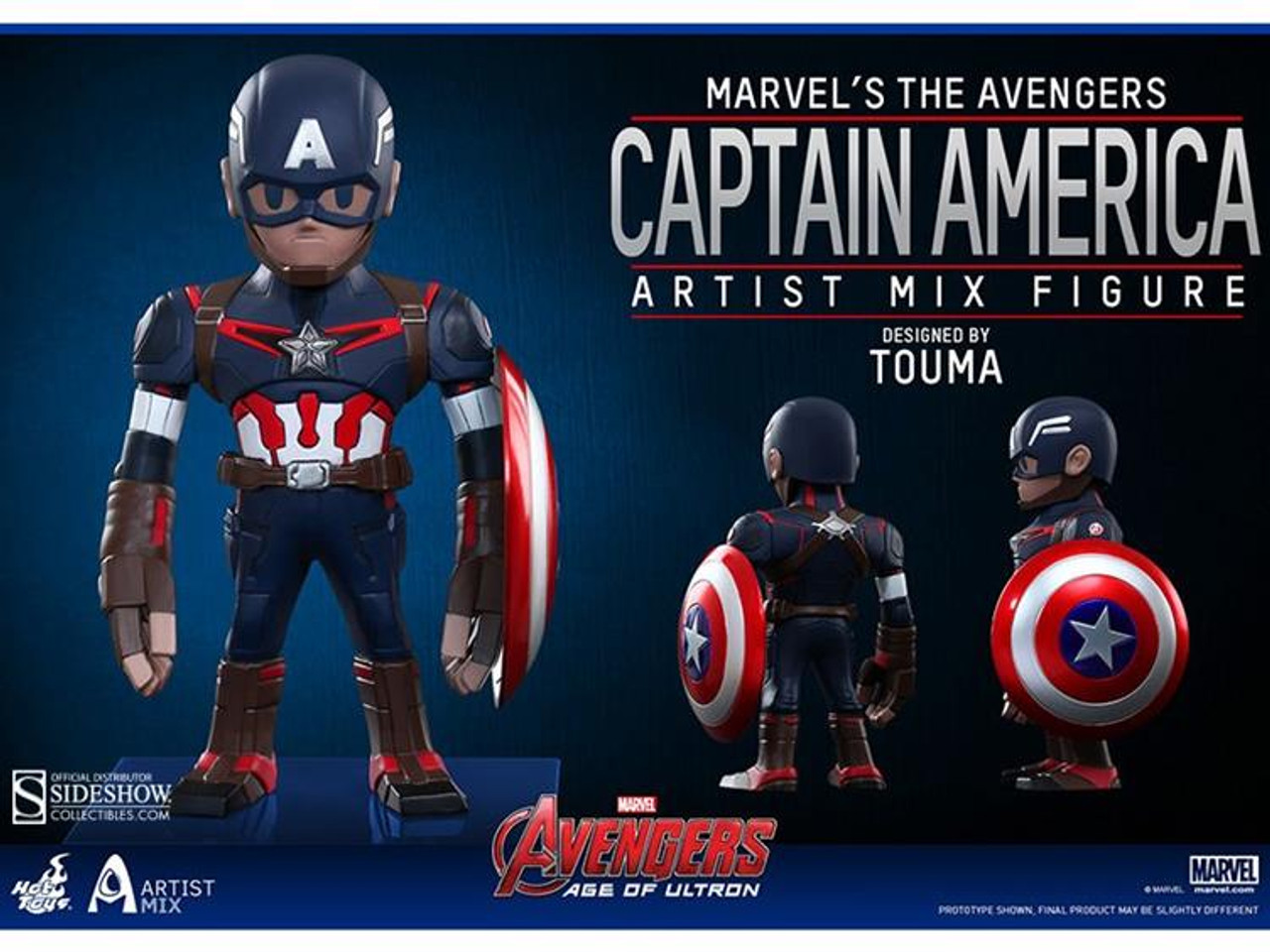 Marvel Avengers Age of Ultron Artist Mix Figure Series 1 Captain America Action Figure