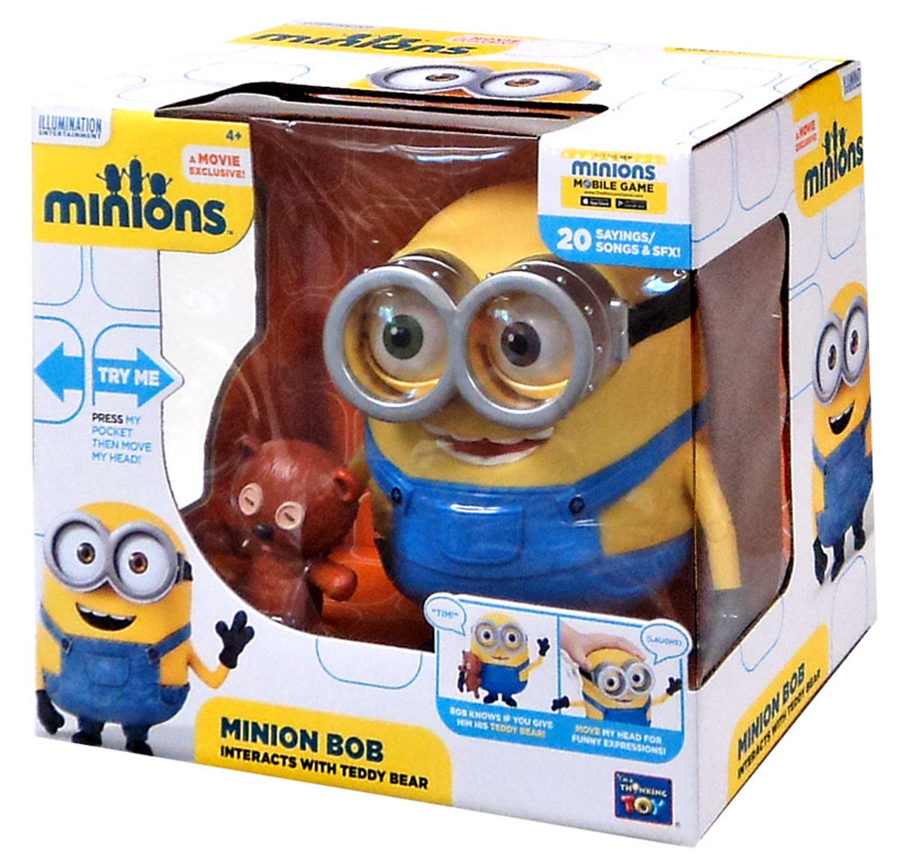 Despicable Me Minions Movie Minion Bob Action Figure [Interacts With Teddy  Bear]