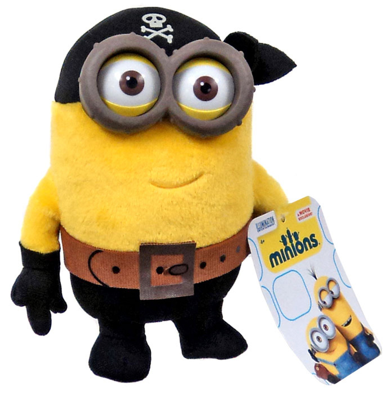 Nice Despicable Me Minions Movie Pirate Minion 5 Plush Eye, Matie Think Way    ToyWiz