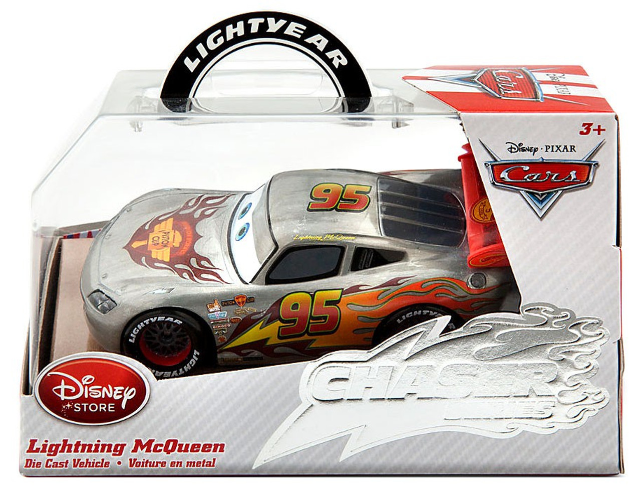 disney pixar chaser series lightning mcqueen 143 diecast car toywiz