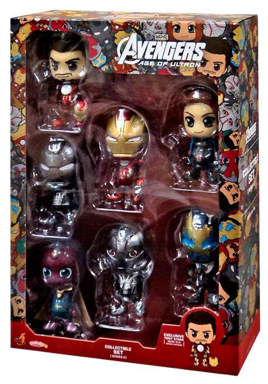 Marvel Avengers Age of Ultron Cosbaby Series 2 Set of 7 3-Inch Mini Figures