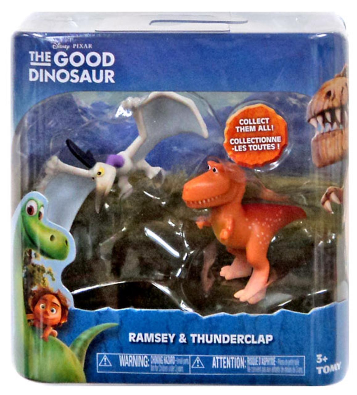 disney the good dinosaur ramsey thunderclap mini figure 2 pack tomy