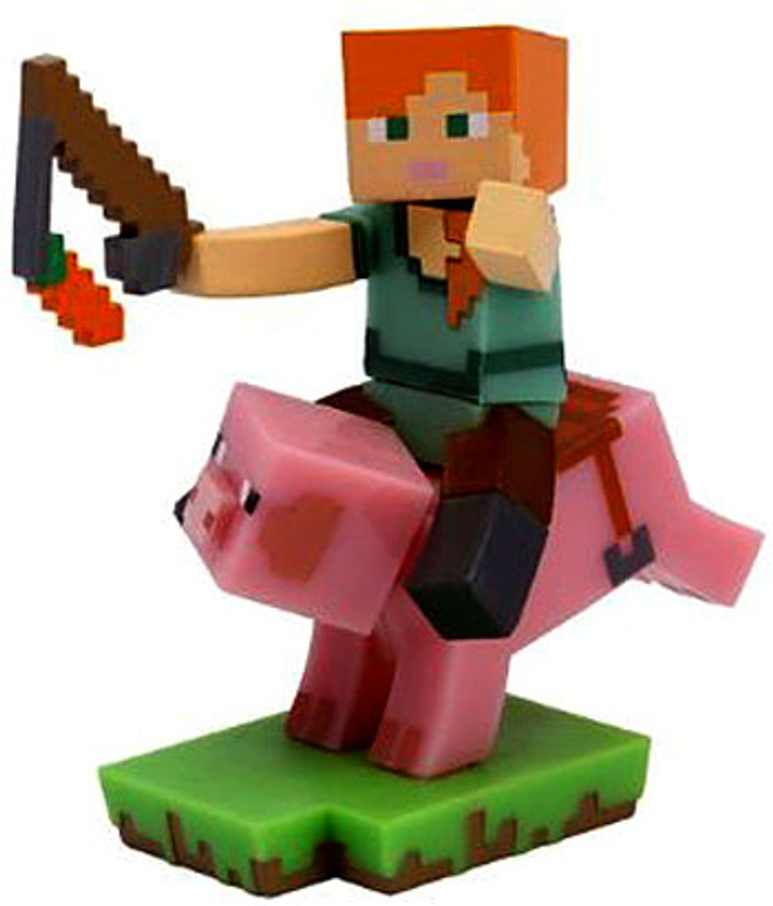 Minecraft Craftables Series 1 Pig Rider 3 Pvc Figure Loose Just Toys