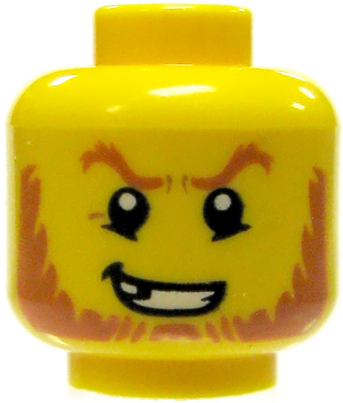 LEGO LEGO Minifigure Parts Yellow Male with Red Beard, Sneer ...