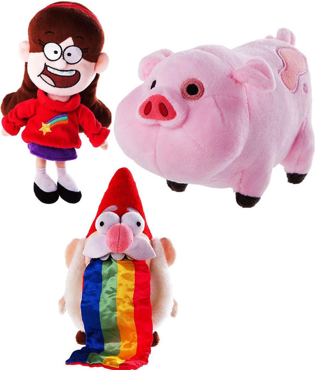 Disney Gravity Falls Barfing Gnome, Mabel & Waddles Set of 3 Plush Dolls