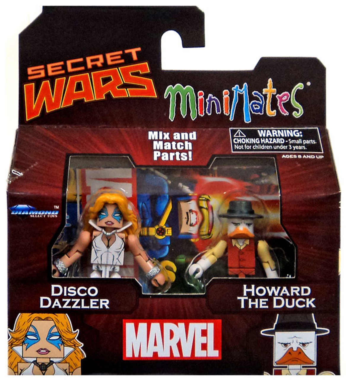 Marvel Secret Wars Minimates Series 64 Disco Dazzler & Howard the Duck 2-Inch Minifigure 2-Pack