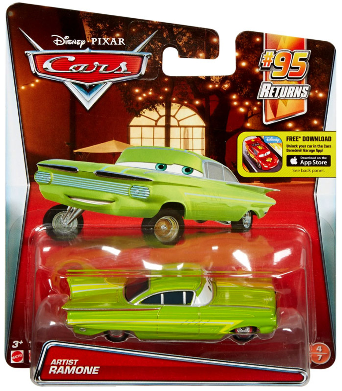 disney pixar cars 95 returns artist ramone 155 diecast car 47 mattel toys toywiz. Black Bedroom Furniture Sets. Home Design Ideas