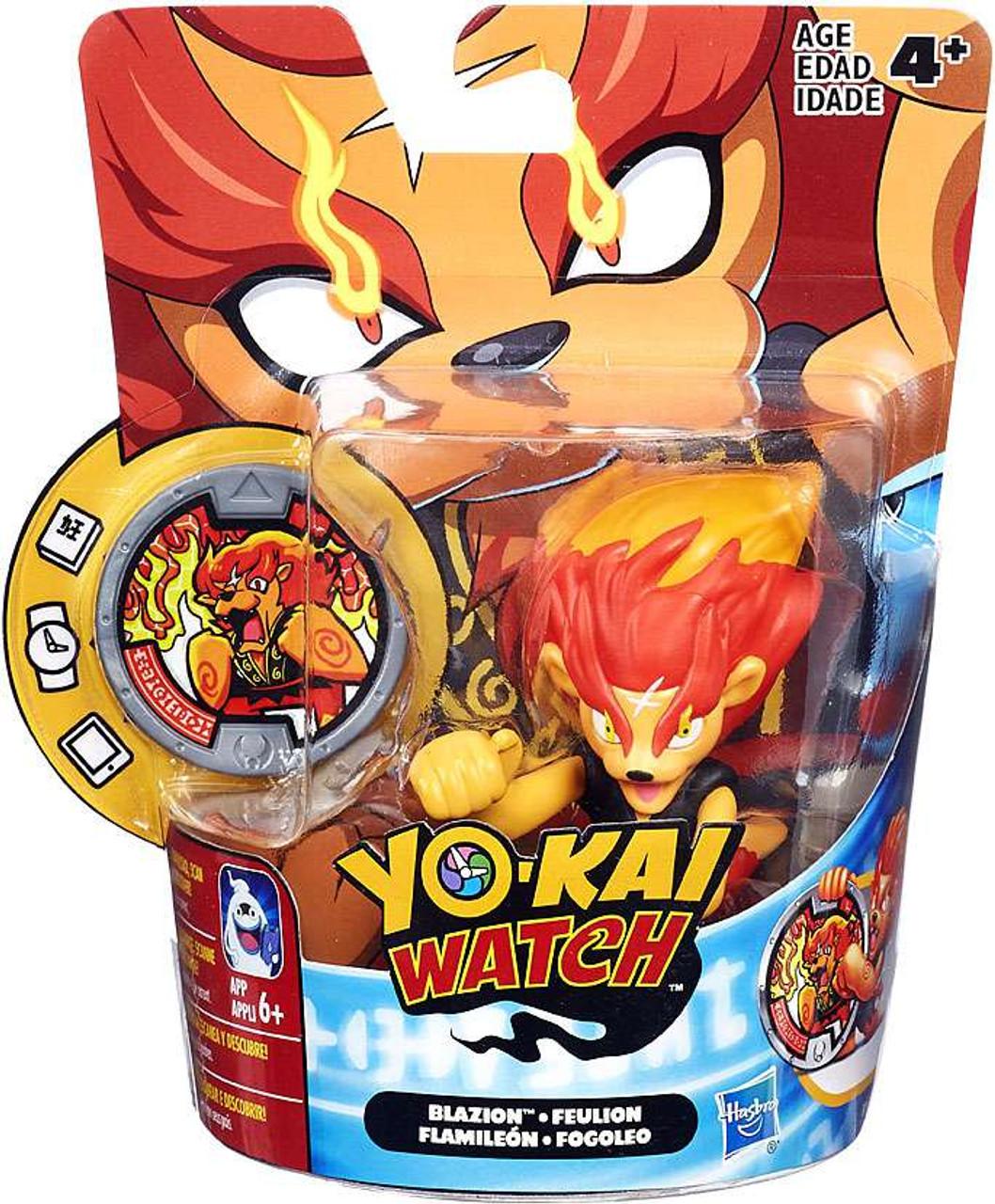 yo kai watch medal moments blazion mini figure hasbro toys toywiz
