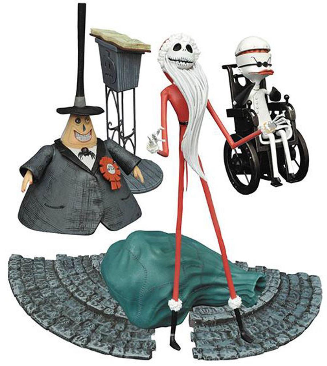 nightmare before christmas select series 2 santa jack mayor dr finkelstein set of 3 action figures diamond select toys toywiz