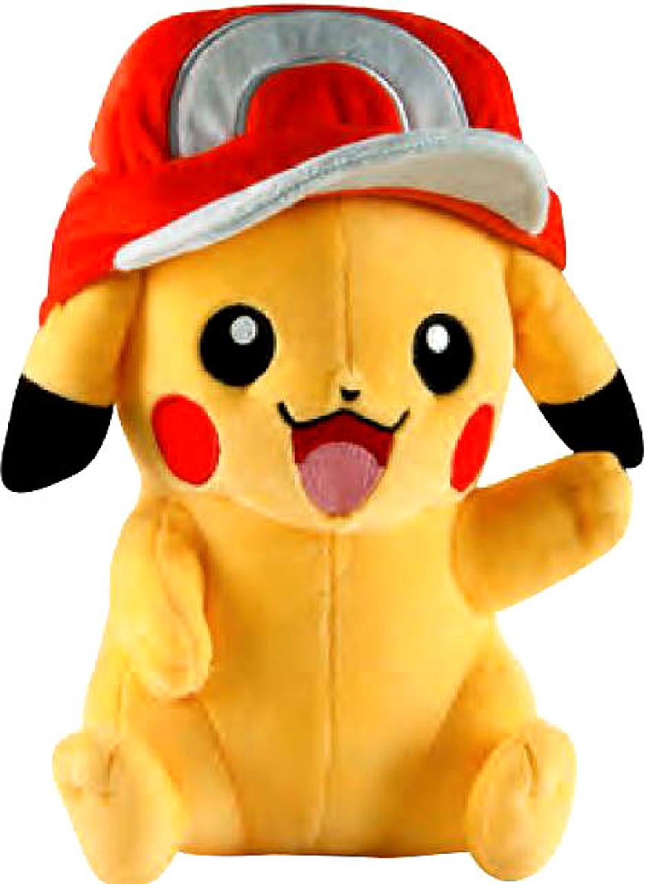 Pokemon Pikachu 10-Inch Large Plush [Wearing Red Hat]