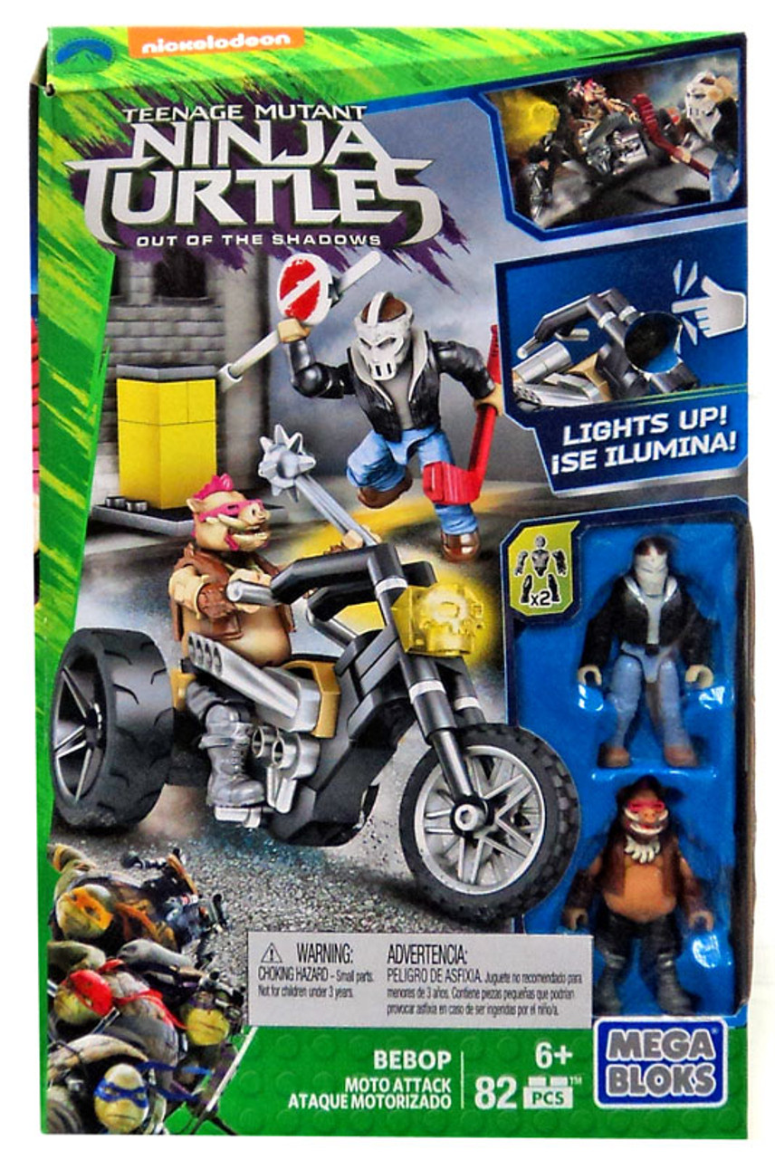 Mega Bloks Teenage Mutant Ninja Turtles Out Of The Shadows Bebop Moto  Attack Set 32647   ToyWiz