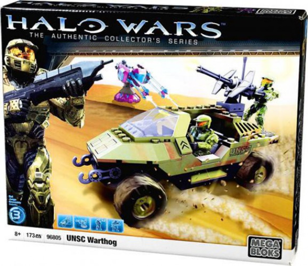 Mega Bloks Halo The Authentic Collector's Series UNSC Warthog Set #96805