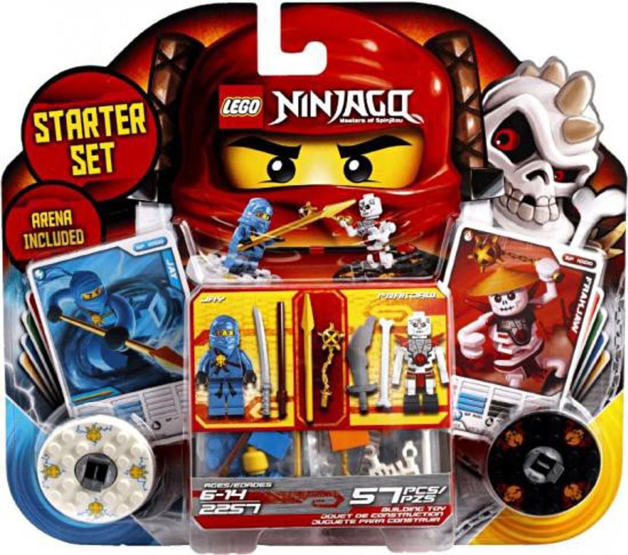 lego ninjago spinjitzu spinners spinjitzu jay vs frakjaw set 2257 - Ninjago Spinjitzu