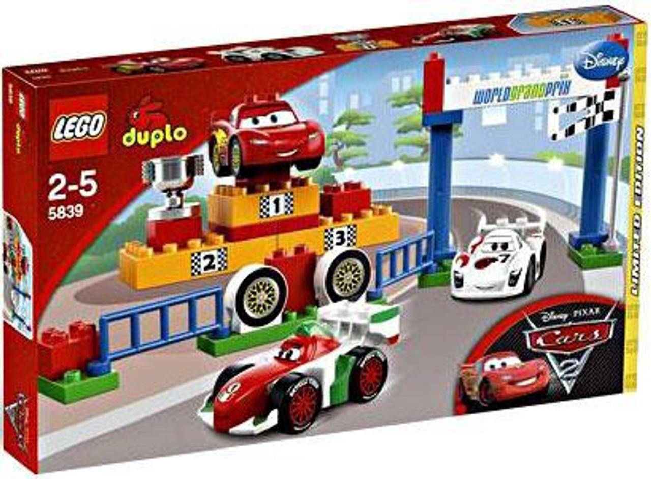 LEGO Disney Cars Duplo Cars 2 World Grand Prix Exclusive Set 5839 ...