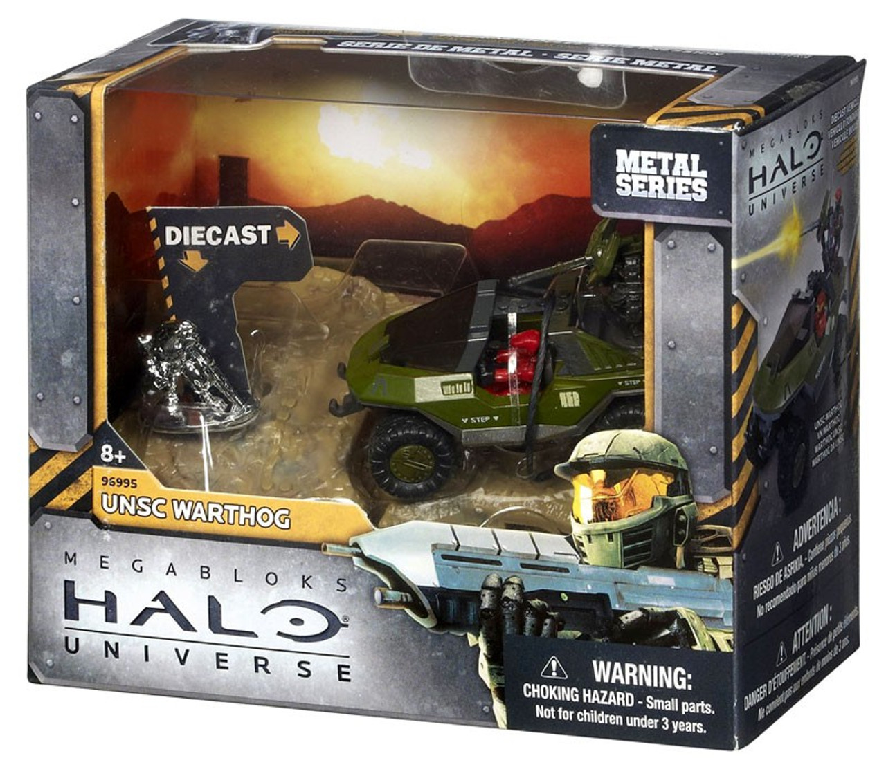 Mega Bloks Halo Metal Series UNSC Warthog Set #96995