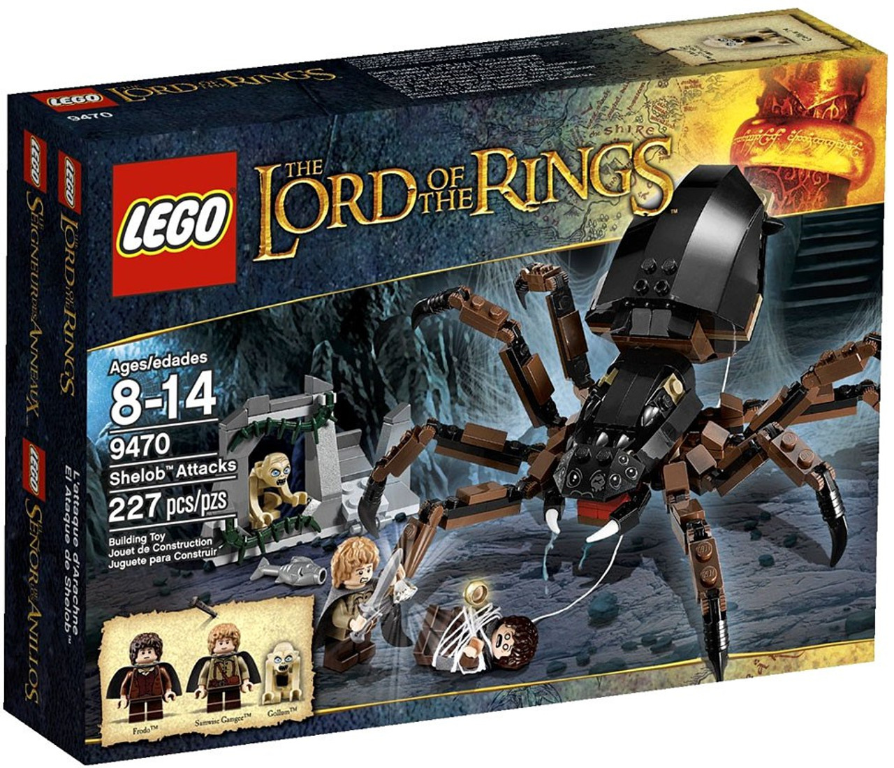 Lego The Lord Of Rings Shelob Attacks Set 9470 Toywiz Battle At Black Gate 79007
