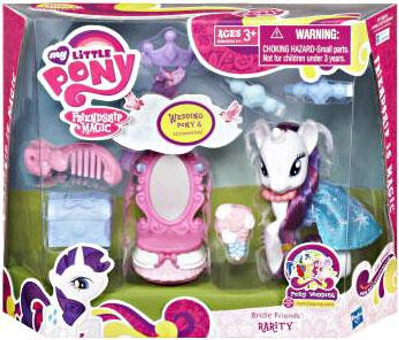 My Little Pony Friendship is Magic Pony Wedding Bridle Friends Rarity Figure Set