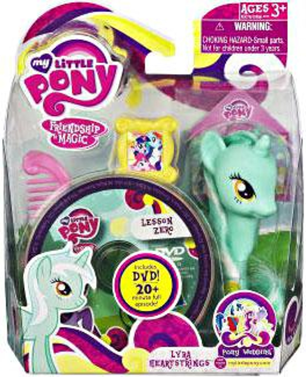 My Little Pony Friendship is Magic Pony Wedding Lyra Heartstrings & Lesson Zero DVD Figure Set