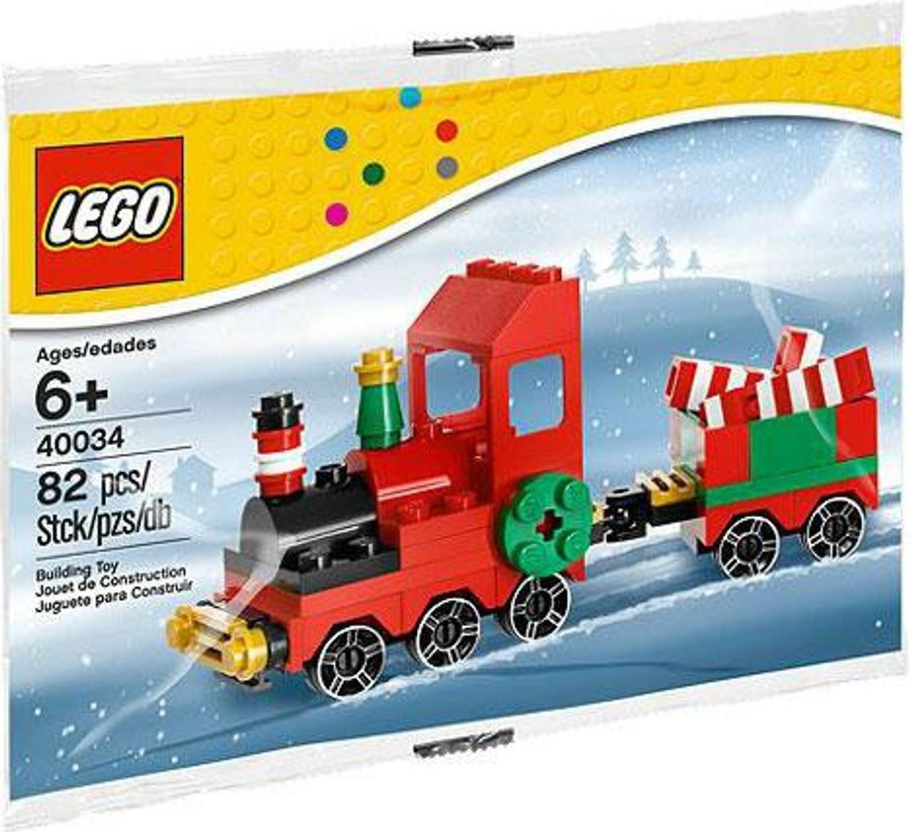LEGO Christmas Train Mini Set 40034 Bagged - ToyWiz