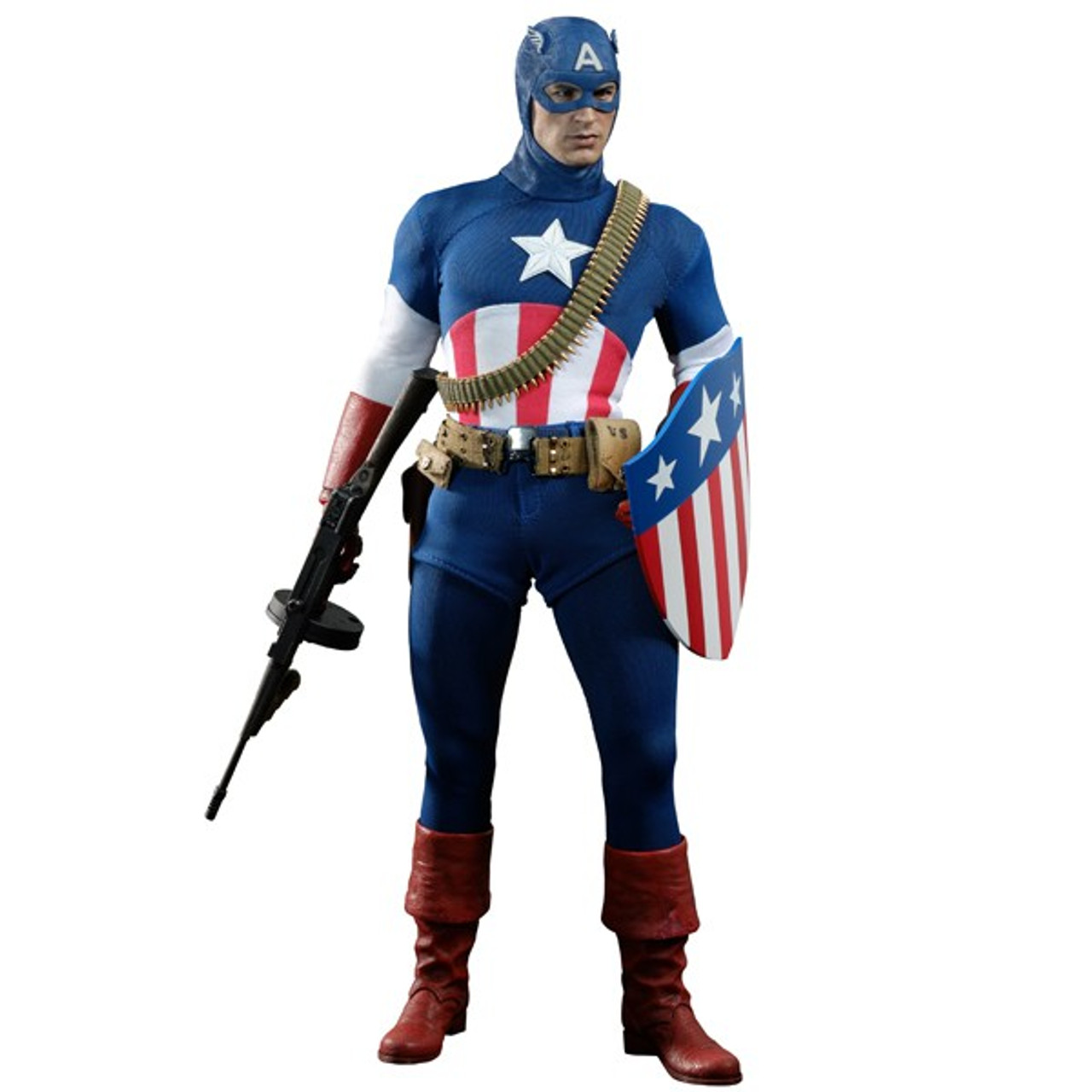 The First Avenger Movie Masterpiece Captain America Exclusive Collectible Figure [Star Spangled Man]