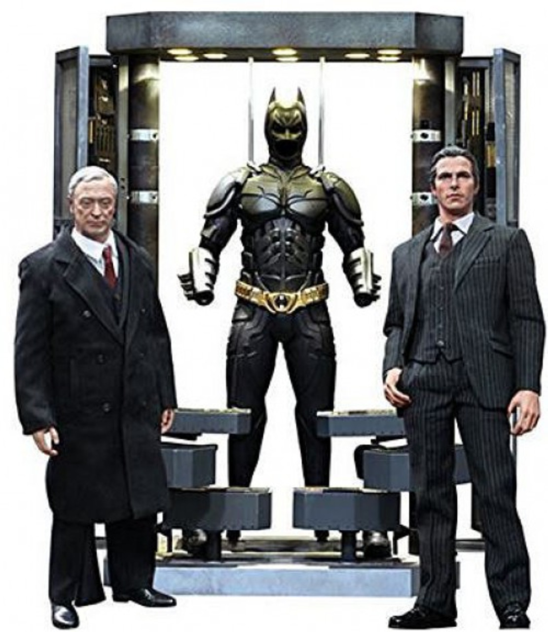 The Dark Knight Movie Masterpiece Batman Armory With Bruce Wayne & Alfred Pennyworth Collectible Figure Set
