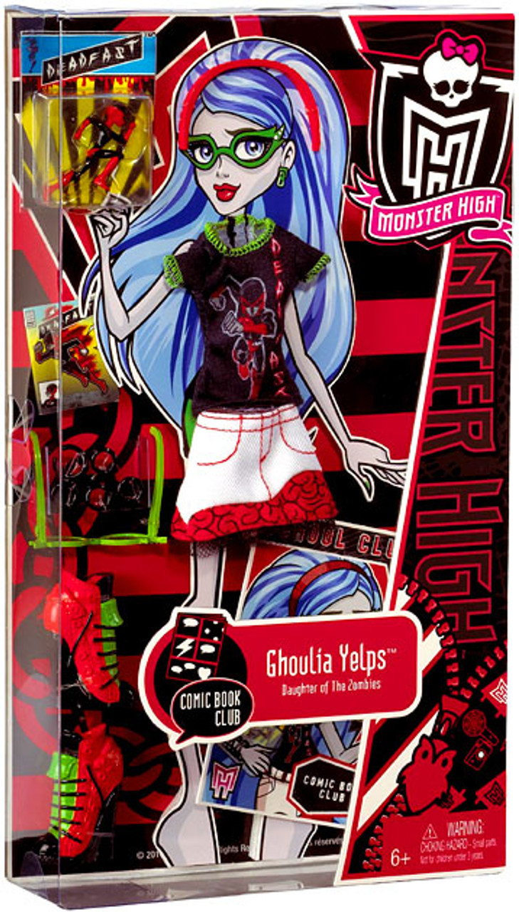 monster high comic book club ghoulia yelps 9 fashion pack mattel