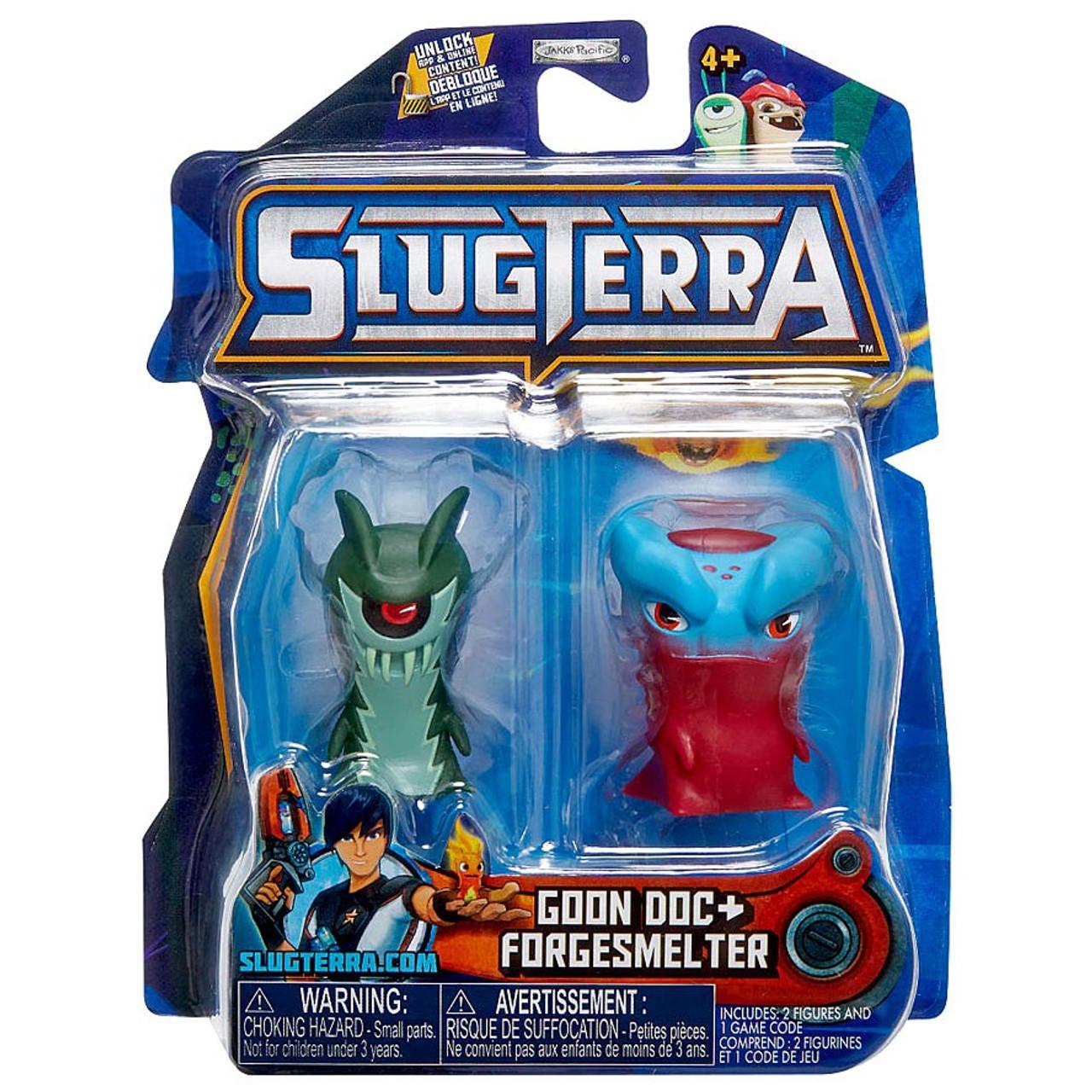 slugterra series 4 goon doc forgesmelter mini figure 2 pack jakks