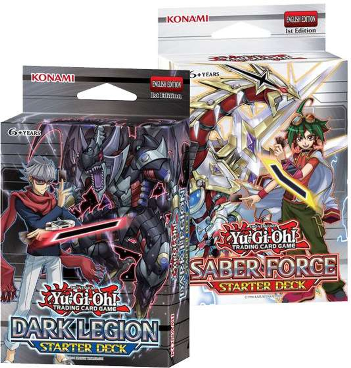 Yugioh set of both saber force dark legion starter decks sealed deck yugioh set of both saber force dark legion starter decks sealed deck konami toywiz aloadofball Image collections