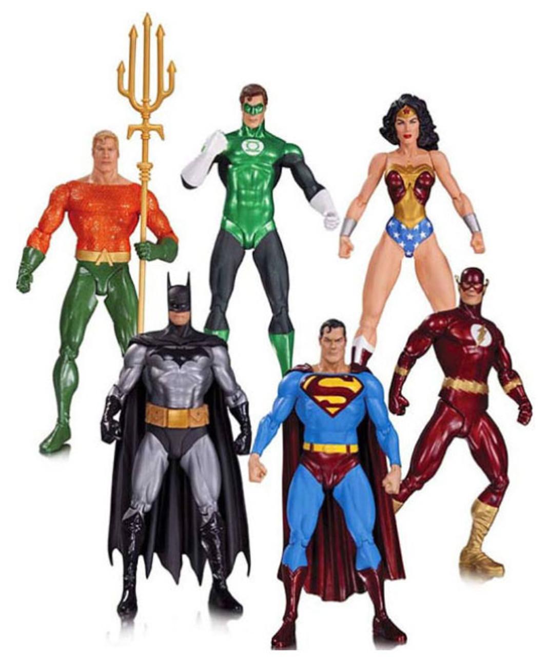 justice league alex ross justice league 7 25 action figure 6 pack dc